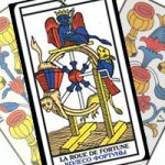 Сочетание карты Колесо Фортуны с Кубками в гадании на любовь